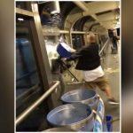 Bucket of water dumped over TTC rider (Video)