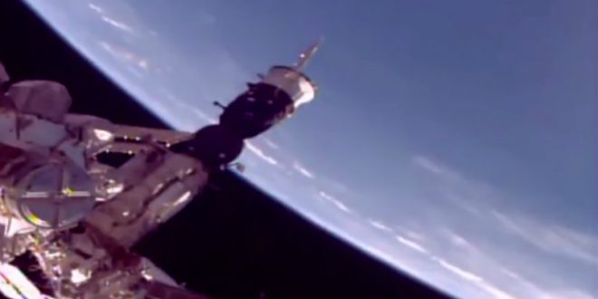 Do aliens exist? Three UFOs catch up speed of ISS (Watch)