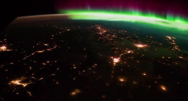 Stunning Northern Lights display as seen from the ISS (Video)