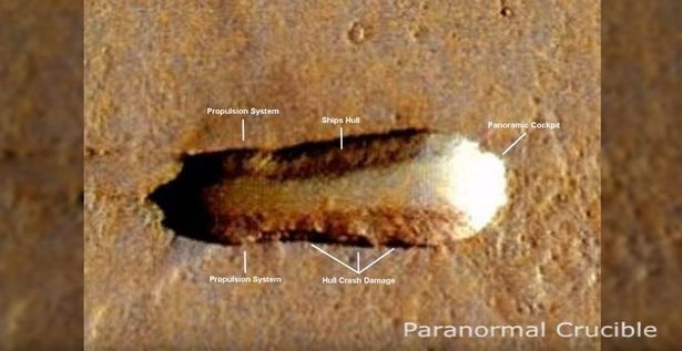 Crashed alien spacecraft spotted on Mars?