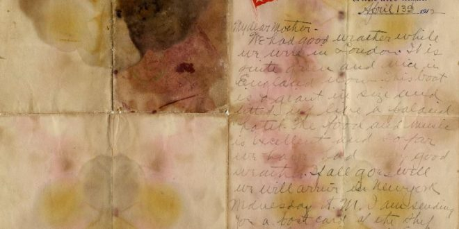 Titanic letter up for auction