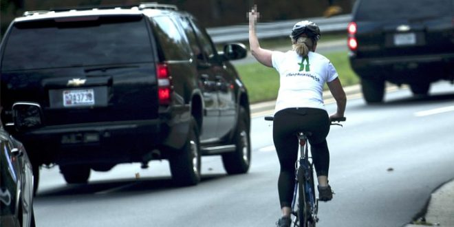 Juli Briskman: Cyclist who flipped off Trump claims she was fired from job