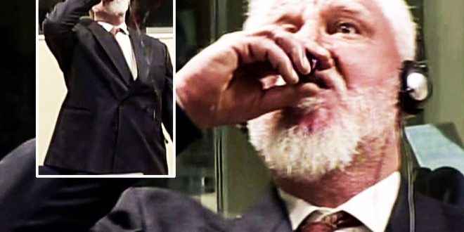 Slobodan Praljak: Bosnian war criminal dies after drinking poison in court (Watch)